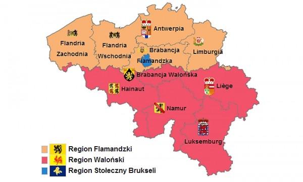 Regiony Belgii Fot. Wikipedia